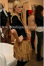 JJ Winters Suede Fringe Bag
