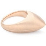 Sterling Silver Ring with 18kt Gold Wash and Satin Finish