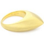 Sterling Silver Ring with 18kt Gold Wash and Satin Finish, 7