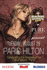 Beacher's Rockhouse bar and Pure presents Paris