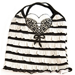 Ruffled Tank - Black/White