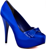 Vee (Royal Blue Satin)