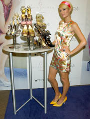 Paris Hilton with her shoes
