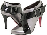 Courtney (Pewter Metallic/Black Patent)