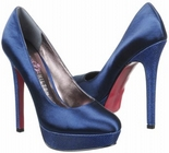 Patty (Navy Satin)