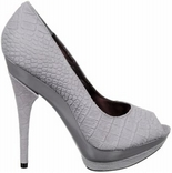 Roxy (Grey Croco Suede)
