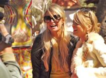 Paris and Nicole filming Simple Life 5