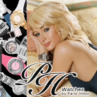 Paris Hilton promo for watch line